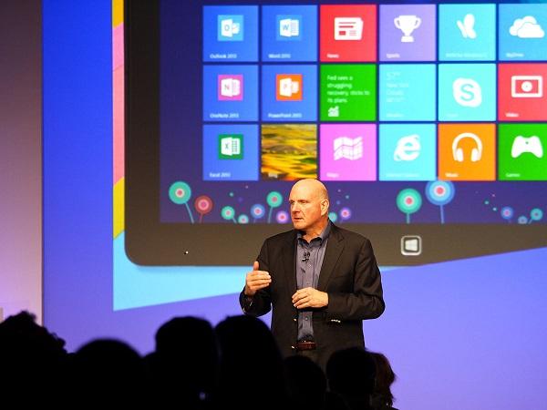 Microsoft CEO Steve Balmer at Windows 8 Launch (courtesy of Dell Inc.)