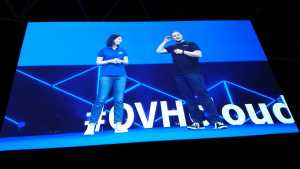OVHcloud founder and chairperson, Octave Klaba with head of strategy, Yona Brawerman