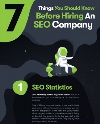 Thumbnail for 7 things to know before hiring an SEO company infographic