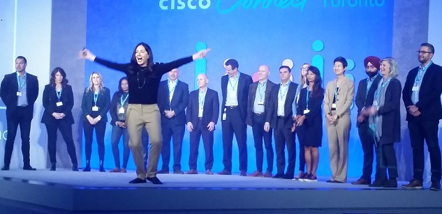 Rola Dagher, president Cisco Canada, and executive team at Cisco Connect 2019
